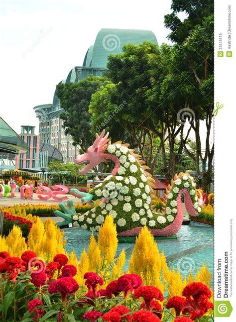 sentosa new year 2015 flower sentosa flowers 2012 editorial stock image image 22945119