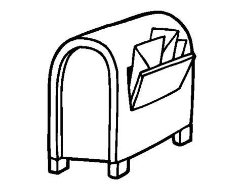 disegni con le lettere disegno di casella di posta con le lettere da colorare