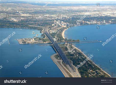aerial hamilton ontario canada skyway bridge elizabeth way stock photo 21113233