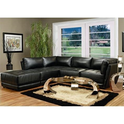 coaster furniture sectional coaster kayson contemporary 5 piece bonded leather