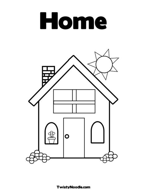 welcome home coloring pages 28568 bestofcoloring com