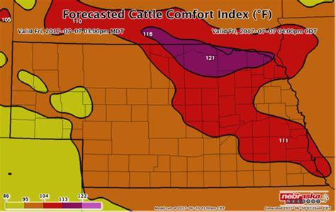 comfort index weather forecasted cattle comfort index