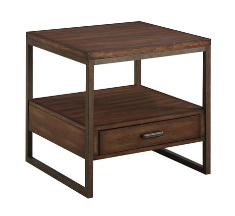 coaster furniture end tables coaster 70430 704307 industrial end table with one drawer