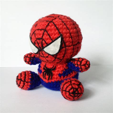 spiderman pattern crochet spiderman amigurumi pattern superhero spider marvel easy diy
