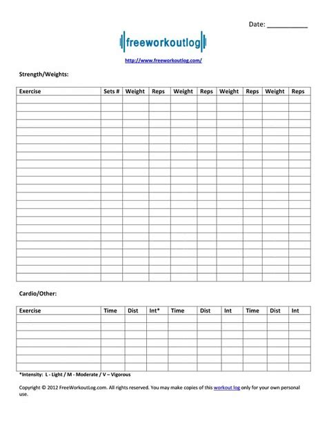personal workout template 40 effective workout log calendar templates ᐅ template lab
