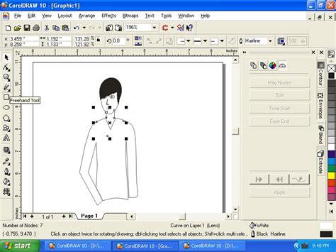 membuat gambar bergerak corel draw membuat gambar manusia dengan corel draw