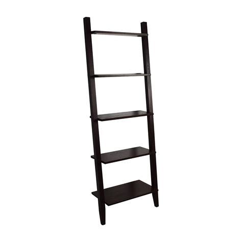 crate and barrel leaning bookcase 60 off crate and barrel crate barrel wooden leaning