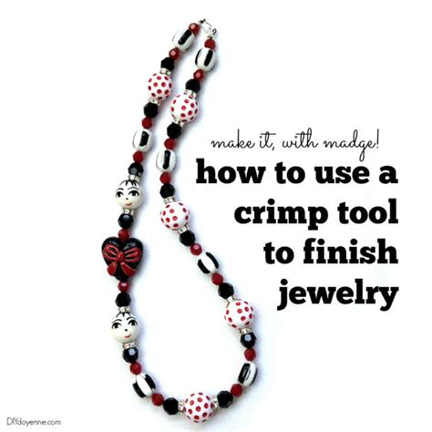how to crimp in jewelry how to use a crimp tool