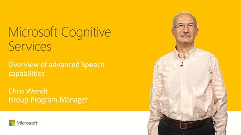 Speaker Advance T104 microsoft cognitive services overview of advanced speech capabilities connect 2017 channel 9