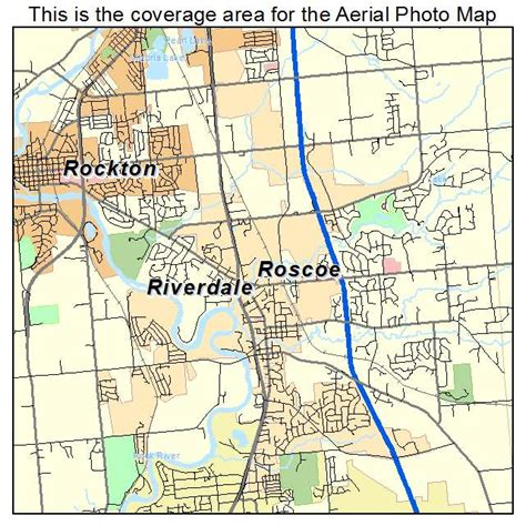 aerial photography map of roscoe il illinois