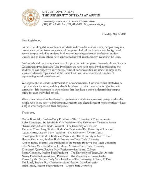 Acceptance Letter Of Houston Of Houston Students Weigh In On Cus Carry Legislation Fish Magazine