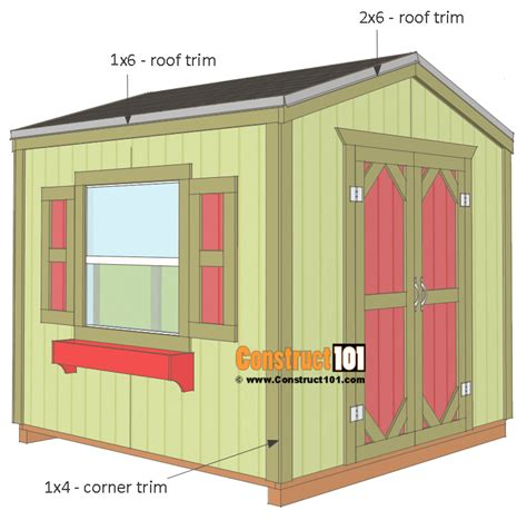 Shed Roof Trim by Garden Shed Plans 8x8 Step By Step Construct101