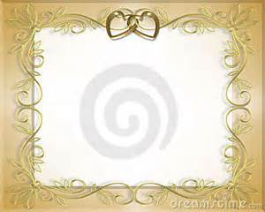Wedding Or Valentine Border Frame Stock Photography