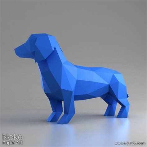 3d Papercraft Models Free - dachshund wiener 3d papercraft model downloadable