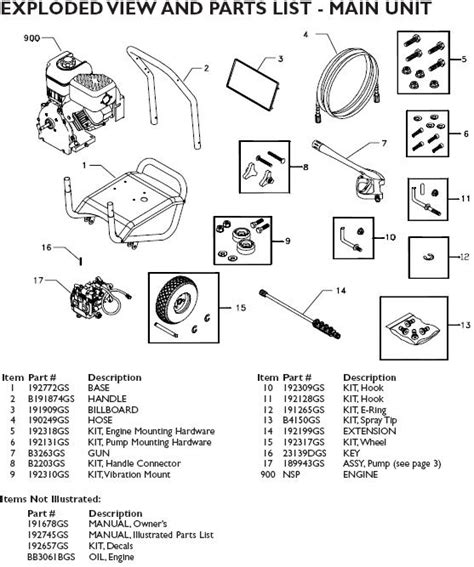briggs and stratton pressure washer parts diagram washer parts briggs and stratton pressure washer parts