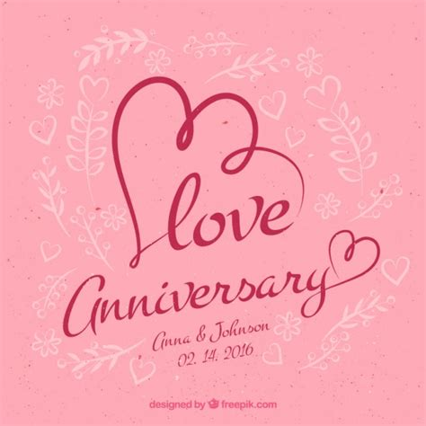 Marriage Anniversary Card Vector by Anniversary Background Vector Free