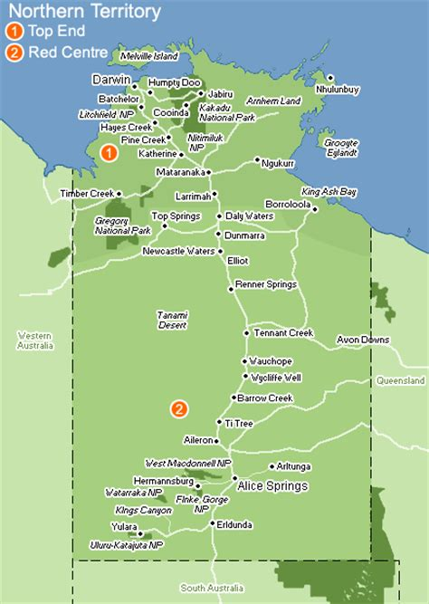 map northern australia northern territory map pictures map of australia region