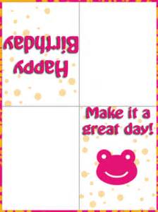 happy birthday cards to print for free for girls