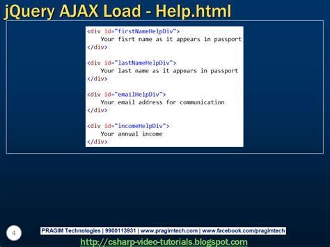 tutorial jquery ajax asp net sql server net and c video tutorial jquery ajax load