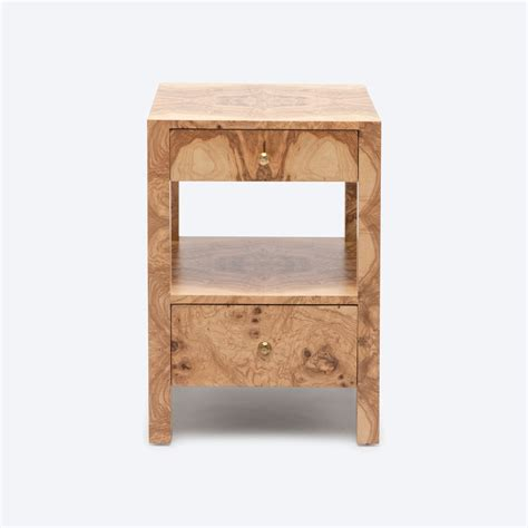 tiny bedside table small turner burlwood bedside table mecox gardens