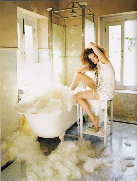 lady in bathtub bath bubble bath bubbles curls curly fashion image