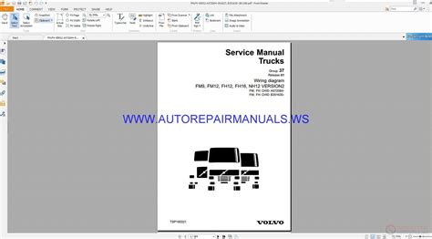 volvo fm9 nh12 version2 trucks wiring diagrams service