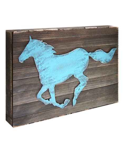 home decor horses horse decorative shabby chic rustic wooden board home