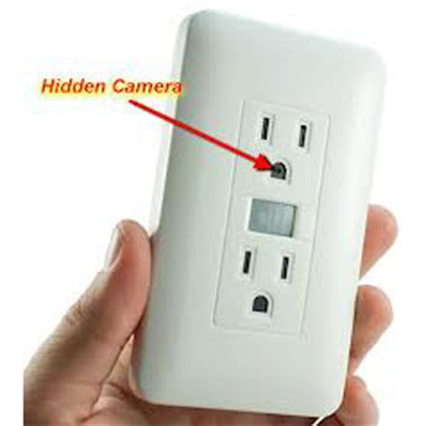 wall outlet hidden spy camera and recorder