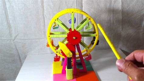 how to make ferris wheel out of paper