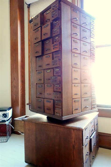 Handmade Catalog - sold antique rotating hardware cabinet 130 drawer solid oak
