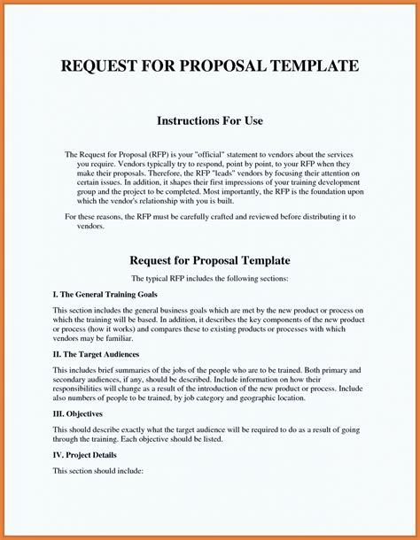 request for bids template sle rfp response template information technology exle