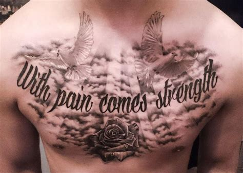 chest tattoos pain with comes strenght realism test on chest