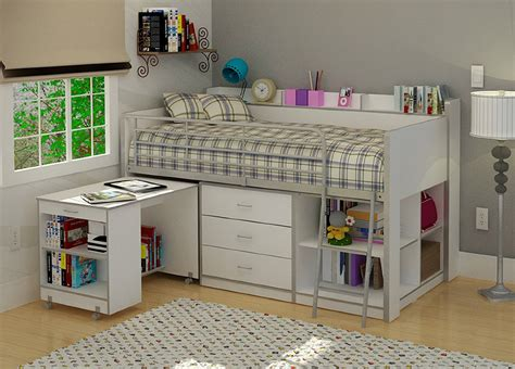 Loft Bed With Desk And Dresser Underneath by Loft Bed With Workstation Desk Underneath