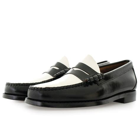 black loafer shoes bass weejuns larson moc black and white loafer shoes