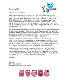 Parent Letter New Mid Year Out On A Limb In Second Grade Introduction Letter To