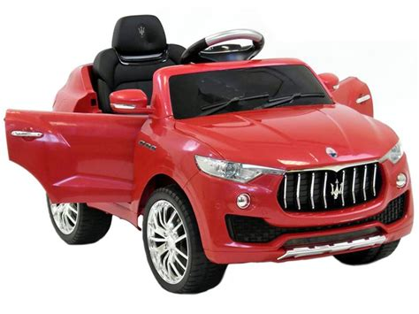 maserati levante red maserati levante suv official toy red 6v battery powered