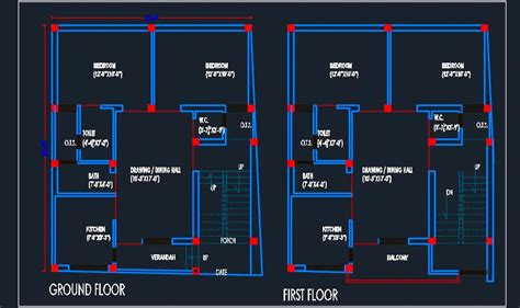 house architectural floor layout plan  dwg detail