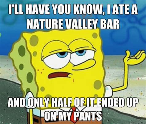 Nature Valley Meme - i ll have you know i ate a nature valley bar and only