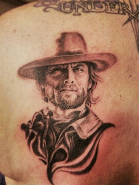 unforgiven tattoo portrait clint eastwood awesome original tattoos