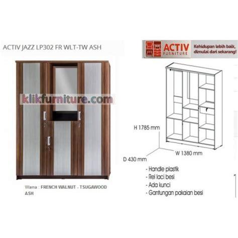 Lemari Pakaian Activ jazz lp 302 fr activ lemari 3 pintu agen sale