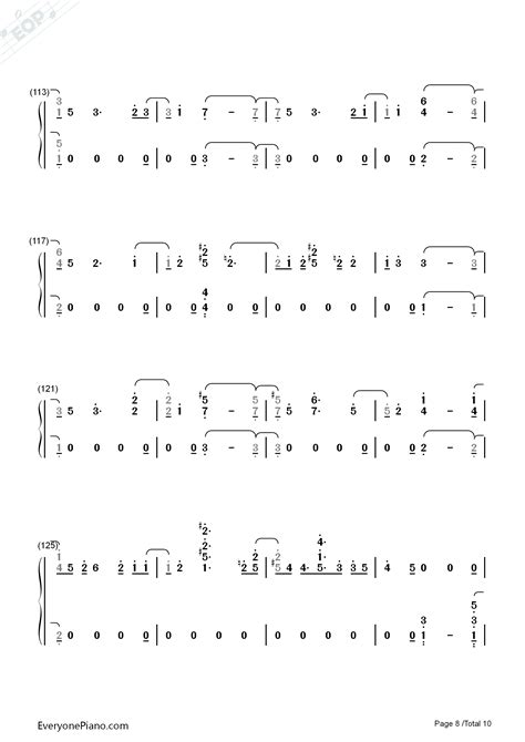 exo universe chord universe exo numbered musical notation preview 8 free
