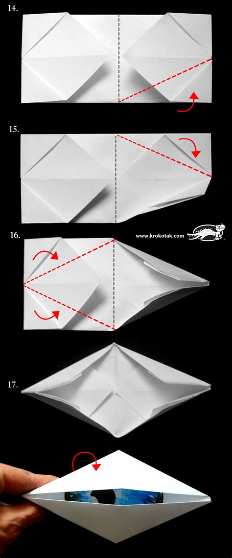Origami Eye - krokotak do i look like a cyclope blinking origami eye