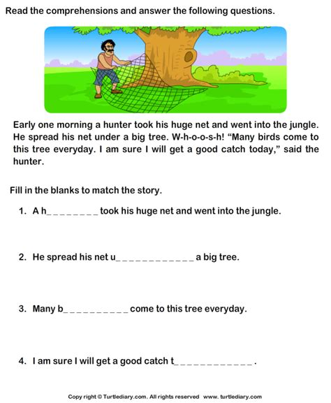 turtlediary grade 1 comprehension worksheets grade 1 comprehension worksheets search