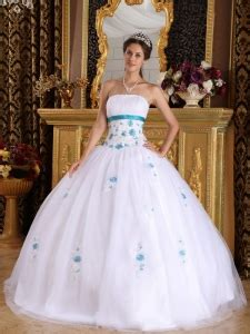 New Produk G Dress Jodyn cheap satin and tulle appliques strapless white sweet 16