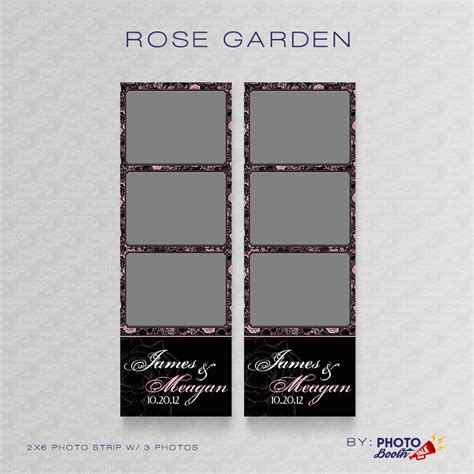 photo booth layout photoshop rose garden photoshop psd files photo booth talk