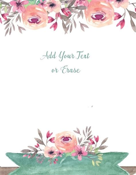 flowers card template border of paper free flower border template