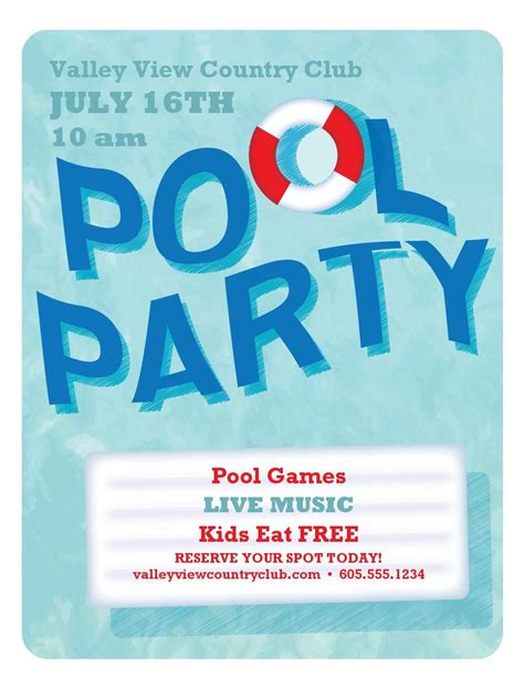 free pool flyer templates cancel save