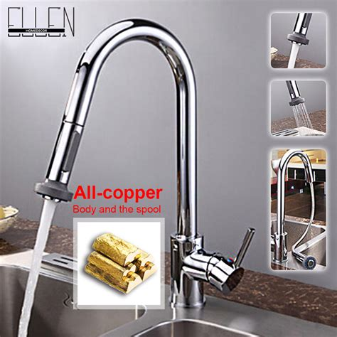 Kitchen Sinks And Taps Sale Aliexpress Buy Single Lever Kitchen Faucet With Mixer And Cold Water Tap Pull Out