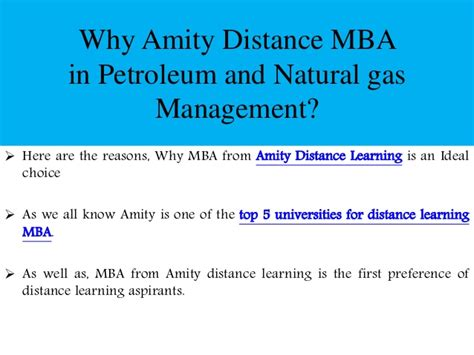 Mba In Petroleum Management Distance Education by Amity Distance Mba In Petroleum And Gas Management
