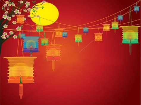 chinese  lantern festival wallpaper backgrounds  powerpoint templates  backgrounds